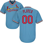 Majestic Men's Full Roster Cool Base Cooperstown Replica St. Louis Cardinals 1967-97 Light Blue Jersey