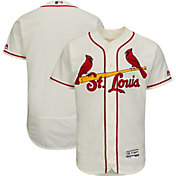 Majestic Men's Authentic St. Louis Cardinals Alternate Ivory Flex Base On-Field Jersey
