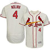 Majestic Men's Authentic St. Louis Cardinals Yadier Molina #4 Alternate Ivory Flex Base On-Field Jersey