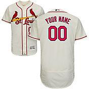Majestic Men's Custom Authentic St. Louis Cardinals Flex Base Alternate Ivory On-Field Jersey