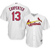 Majestic Men's Replica St. Louis Cardinals Matt Carpenter #13 Cool Base Home White Jersey
