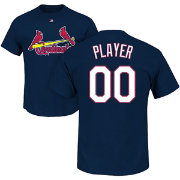 Majestic Men's Full Roster St. Louis Cardinals Navy T-Shirt