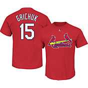 Majestic Men's St. Louis Cardinals Randal Grichuk #15 Red T-Shirt