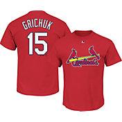 Majestic Men's St. Louis Cardinals Randal Grichuk #15 Red T-Shirt