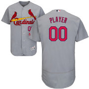 Majestic Men's Full Roster Authentic St. Louis Cardinals Flex Base Road Grey On-Field Jersey