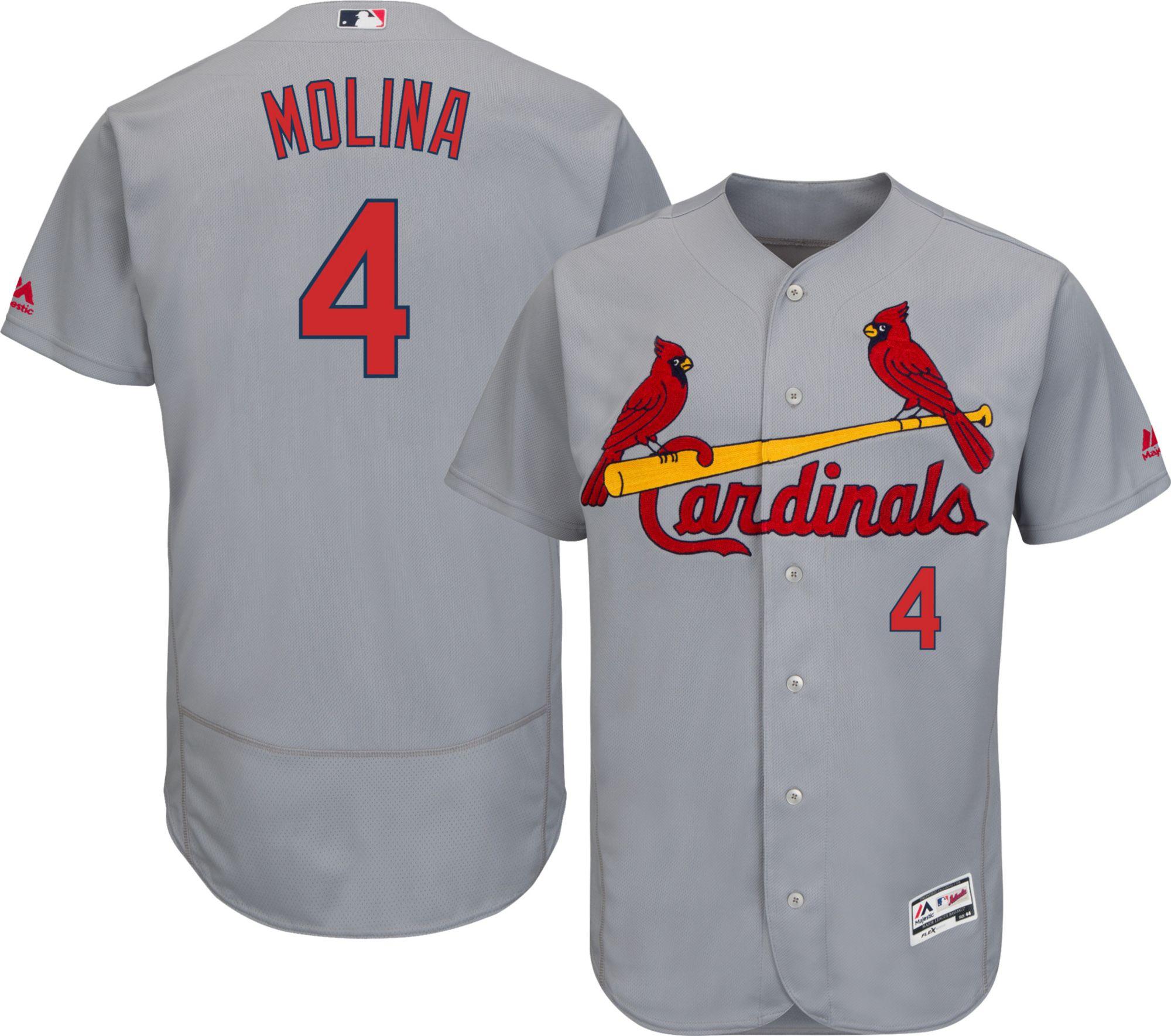 1c63d6f7 ... Majestic Mens Authentic St. Louis Cardinals Yadier Molina 4 ...