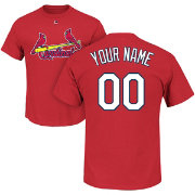Majestic men 39 s custom st louis cardinals red t shirt for Custom t shirts st louis