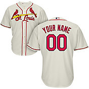 Majestic Men's Custom Cool Base Replica St. Louis Cardinals Alternate Ivory Jersey