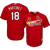 Majestic Men's Replica St. Louis Cardinals Carlos Martinez #18 Cool Base Alternate Red Jersey