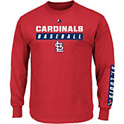 Majestic Men's St. Louis Cardinals Proven Pastime Red Long Sleeve Shirt