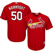 Majestic Men's Replica St. Louis Cardinals Adam Wainwright #50 Cool Base Alternate Red Jersey