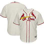 Majestic Men's Replica St. Louis Cardinals Cool Base Alternate Ivory Jersey