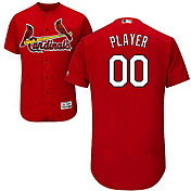 Majestic Men's Full Roster Authentic St. Louis Cardinals Flex Base Alternate Red On-Field Jersey