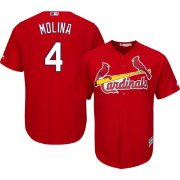 Majestic Men's Replica St. Louis Cardinals Yadier Molina #4 Cool Base Alternate Red Jersey
