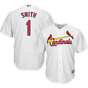 Majestic Men's Replica St. Louis Cardinals Ozzie Smith #1 Cool Base Home White Jersey