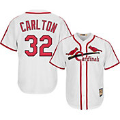 Majestic Men's Replica St. Louis Cardinals Steve Carlton Cool Base White Cooperstown Jersey