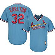 Majestic Men's Replica St. Louis Cardinals Steve Carlton Cool Base Light Blue Cooperstown Jersey
