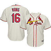 Majestic Men's Replica St. Louis Cardinals Kolten Wong #16 Cool Base Alternate Ivory Jersey