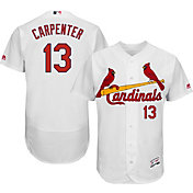 Majestic Men's Authentic St. Louis Cardinals Matt Carpenter #13 Home White Flex Base On-Field Jersey