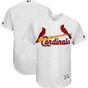 Majestic Men's Authentic St. Louis Cardinals Home White Flex Base On-Field Jersey