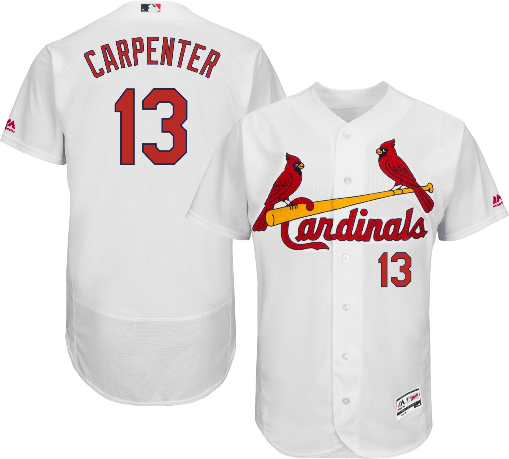 Men's St. Louis Cardinals #13 Matt Carpenter White 2016 Flexbase Majestic Baseball Jersey