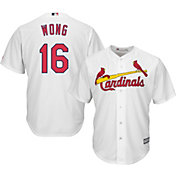Majestic Men's Replica St. Louis Cardinals Kolten Wong #16 Cool Base Home White Jersey