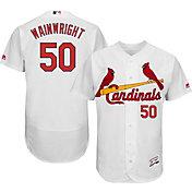 Majestic Men's Authentic St. Louis Cardinals Adam Wainwright #50 Home White Flex Base On-Field Jersey