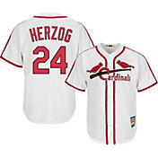 Majestic Men's Replica St. Louis Cardinals Whitey Herzog Cool Base White Cooperstown Jersey