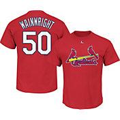 Majestic Men's St. Louis Cardinals Adam Wainwright #50 Red T-Shirt