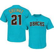 Majestic Men's Arizona Diamondbacks Zack Greinke #21 Blue T-Shirt