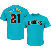 Majestic Men's Arizona Diamondbacks Zack Greinke #21 Blue T-Shirt
