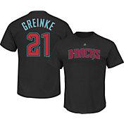Majestic Men's Arizona Diamondbacks Zack Greinke #21 Black T-Shirt