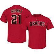 Majestic Men's Arizona Diamondbacks Zack Greinke #21 Red T-Shirt