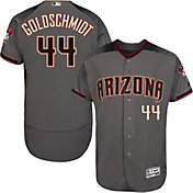 Majestic Men's Authentic Arizona Diamondbacks Paul Goldschmidt #44 Flex Base Road Grey On-Field Jersey