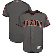 Majestic Men's Authentic Arizona Diamondbacks Flex Base Road Grey On-Field Jersey