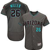 Majestic Men's Authentic Arizona Diamondbacks Shelby Miller #26 Flex Base Alternate Road Grey On-Field Jersey