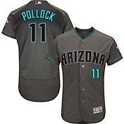 Majestic Men's Authentic Arizona Diamondbacks A.J. Pollock #11 Flex Base Alternate Road Grey On-Field Jersey