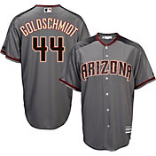Majestic Men's Replica Arizona Diamondbacks Paul Goldschmidt #44 Cool Base Road Grey Jersey