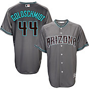 Majestic Men's Replica Arizona Diamondbacks Paul Goldschmidt #44 Cool Base Alternate Road Grey Jersey