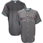 Majestic Men's Replica Arizona Diamondbacks Cool Base Alternate Road Grey Jersey