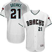 Majestic Men's Authentic Arizona Diamondbacks Zack Greinke #21 Alternate Home White Flex Base On-Field Jersey