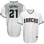 Majestic Men's Replica Arizona Diamondbacks Zack Greinke #21 Cool Base Alternate Home White Jersey