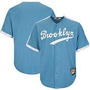 Majestic Men's Replica Brooklyn Dodgers Cool Base Light Blue Cooperstown Jersey
