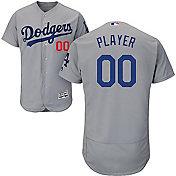 Majestic Men's Full Roster Authentic Los Angeles Dodgers Flex Base Alternate Road Grey On-Field Jersey