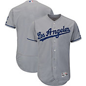 Majestic Men's Authentic Los Angeles Dodgers Road Grey Flex Base On-Field Jersey