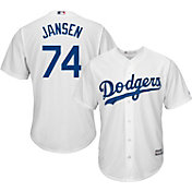 Majestic Men's Replica Los Angeles Dodgers Kenley Jansen #74 Cool Base Home White Jersey