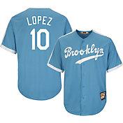 Majestic Men's Replica Brooklyn Dodgers Al Lopez Cool Base Light Blue Cooperstown Jersey