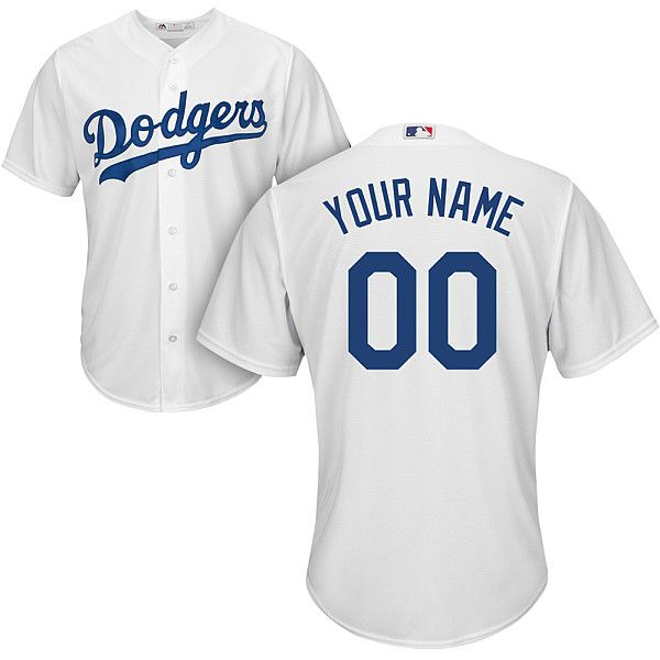 mens los angeles dodgers customized gray jersey