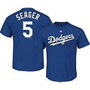 Majestic Men's Los Angeles Dodgers Corey Seager #5 Royal T-Shirt