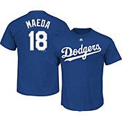 Majestic Men's Los Angeles Dodgers Kenta Maeda #18 Royal T-Shirt